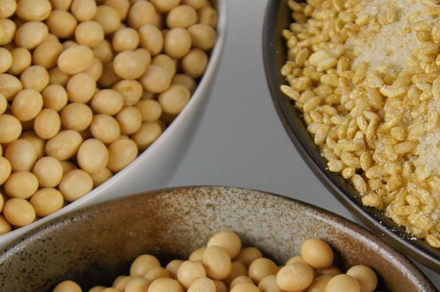 味噌作りに使う大豆やお米について