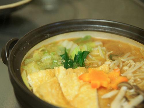 味噌鍋は体が温まり美味しい