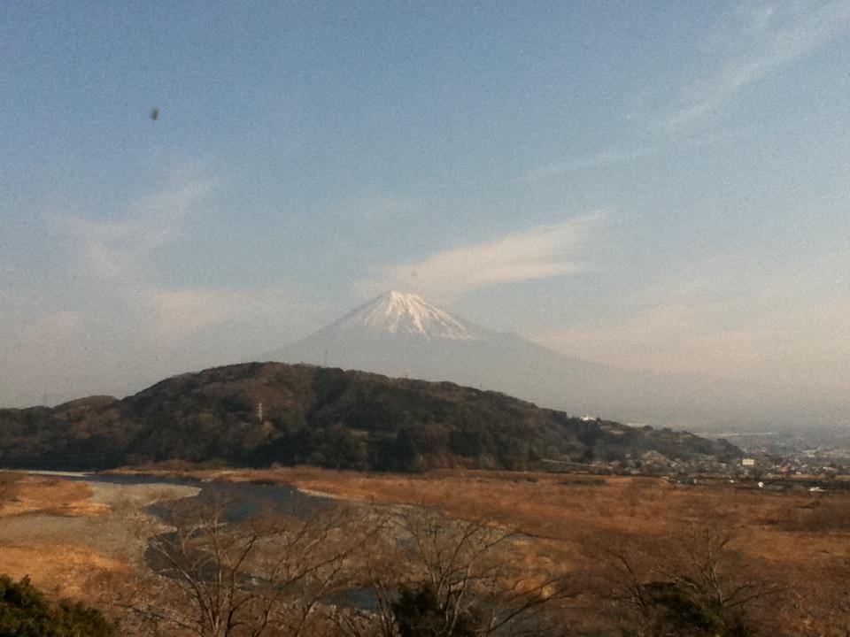 富士山がみえた