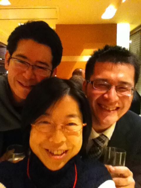 アサクラオイルの朝倉さんとsky skip cafeの佐々木さんとパシャリ
